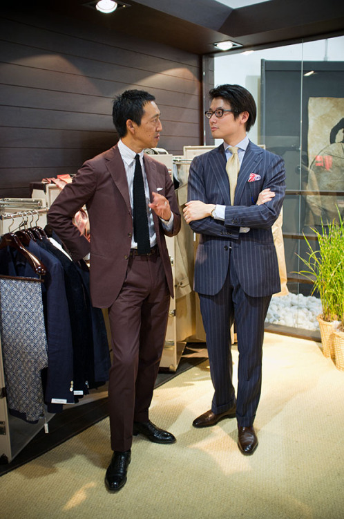 thearmoury:Kamoshita-san, a style icon and a customer of Liverano for the last 20 years! United Arrows also works with Liverano in their high end men's flagship - Sovereign House, a must-see in Tokyo.(myself - Ring Jacket, Drakes, WW Chan, Gaziano