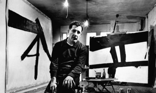"Franz Kline:  A Seismic Shift to BlackBorn: March 23, 1910, Died, May 13, 1962From Wilkes-Barre, Pennsylvania My work this summer has been an effort to fashion a increased sense of tension and revision in my work.  Allowing the shaping and permutations of the subject study to create depth on the layers of paint.  Perhaps one of the most invigorating components of working in a sketchbook or pad - the exercise of live subject transposing live on a surface - is an element of creating art that I'm trying to encapsulate and bring out on the painting surface.  Working with the monochrome media combination of: graphite, Conté Crayon, gouache, and watercolor the surface creates the mix and transparency I hoping to create.  The magnificent stark, cutting interaction between rich black color against creamy whites and grays opens a internal fireworks show for me as an artist.  It reconnects and reminds me of studying Hangul (Korean) calligraphy and watercolor during the summer of 2004, in Hawon, South Korea.  Here's an example of what Hangul looks like:                                                                                                            Taekwondo by Xing An-Ping Experimenting with different media can feel like and present risks to an artist.  Working with something unfamiliar but also allowing the stylistic qualities of an unfamiliar media to run free is exciting and tremendously challenging.  Being on the edge of experimenting with something new opens the door to uncertainty and doubt.  As much as I attempt to block out negative thoughts, how will shifting from the pleasantries of color to black and grey be received?  Will working with a monochrome, dark palette convey to collectors the work is somehow unfinished when the intent has been achieved?  Will the work portray depressing, gloomy sentiments when it is in fact exuberant and breathing with life?                                                                          Painting No. 2, 1954. It is consoling to research painters who had a shift or variation with in their artistic expression.  The array of drawings of Gustav Klimt,  the mysterious and powerful work of Frank Auerbach (Head of Julia, 1960),  and the powerful gestural abstractions of one of my favorite artists and influences, Franz Kline.   Kline in his studio, 1961. My fascination with Kline began at first sight seeing Le Gros at MOMA.  I remember staring for so long I looped around, faked seeing again for the first time so I could soak up another 10-15 minutes of studying it, so I didn't alarm my friends at the gallery I had fallen asleep standing up.                                                                                     Le Gros, 1961. I'm captivated and moved by the utilitarian vigor and compression in the frame of Le Gros.  It's as if a highly skilled ironworker grabbed a 4"" brush loaded in black paint and gave his interpretation of the movement of shape and form.  There is a harnessed sense of craftmanship in Kline's work, unlike the free flow expressionists of his time.  Intense restraint and reworked strokes are evident in his cutting swifts of black enamel.  Walking through the Abstract Expressionist exhibit at MOMA, Kline delivers a primordial, guttural fist to the face to his peers in the collection.  Although equally magnificent in their own way, it's like listening to a jazz piece and heavy metal song back to back.  There's so much stated in Kline's work - messages about his memories and times our left brain can't decipher.  I wonder how Georges Seurat's reaction were to be if he were transported through time to see what this Pennsylvania artist was going with two cans of enamel.   Kline evokes a tremendous emotional response for the viewer - which I urge you to take to canvas for yourself (no art experience necessary, more information later.) An interesting video explanation on Kline's style was put together by MOMA's staff:                    Described as the quintessential 'action painter', by poet Frank O'Hara , Franz Kline's expression began to rocket after connecting with Willem de Kooning in New York in 1947.  His work began to abandon his figurative 1940's style and moved into his notorious large gestural abstractions.  Inspired by de Kooning's black and white abstractions, Kline primarily used black enamel sign paint using a house brush.  This style and limited palette by Kline and de Kooning sparked the interest of Minimalist collectors and enthusiasts.                                                                                    Monitor, 1956. Although placed in the abstract expressionism section of MOMA, near Rothko, Johns, and Newman, Kline distanced himself from that style to root his technique in gesture of strokes similar to de Kooning.  A similar Georgia O'Keeffe's Drawing X (1959) uncharacteristically displays some of this large stroke monochrome influence in her work.  Another notorious example in Kline's mold is the work of Robert Motherwell.  Perhaps one of the most well known of Kline's work is Chief, pictured below.                                                                                          Chief, 1950. Although distinctly different than Kline, de Kooning, and the example by O'Keeffe, I have found connections with the brilliant work of Hans Hartung.  His lithographs's and sketches, such as Artetrama demonstrate the commanding power of the dark values in art.  Hartung's Ohne Titel, (1977) is a lively and vocal piece. In the 1950's, Kline began to experiment with color and created the intensely bold Red Painting in 1961.                                                                                                             Red Painting, 1961. Had enough history and background information?   Earlier this Spring, I did what I always wanted to do, which is create my own Kline inspired work.  With Le Gros in mind I cut up a big sheet of glossy paper into small 3x5 rectangles to experiment with designs.  My ""Kline"" was to incorporate architectural steel beams in the black strokes, but offset by thinner strokes as I was not going to commit a 8-foot canvas to this experiment.                                                                      Franz Kline study.  ©Accorsi Studios, 2011. Interpretative Blog Challenge: Do you notice anything recognizable about this design?   What object inspired my Franz Kline study above?  The first 100 people to guess accurately the subject for inspiration in my ""Kline"" - I'll send you a watercolor postcard.   Email your guess. Have a blank wall and $40? Interested in trying your own Franz Kline painting?  I created a Practices page with some notes to create your own interpretation of Kline's work.  Please email pictures of your Kline - I'll post on my blog and twitter.  The Art Story Foundation While researching Kline for this article I discovered a very useful online resource  - The Art Story.org - website.    It is a must-have resource for artists and art enthusiasts.  The  historical and artistic descriptions are tremendously written and  researched.  Be forewarned, the gem of this site is the simplified  connections to related artists that will have you clicking and searching  endlessly.  Check out their page and support their foundation.   ""The  Art Story Foundation's official statement of purpose is to: ""Educate,  inform, and introduce people to modern art through speaker series,  educational workshops, and online educational resources"". Related Article: Artist and blogger Suzanne DeCuir wrote a nice article on Kline's earlier work titled, ""Of course if you want to paint you have to look at everything.""  In her article there's a interesting color architectural piece by Kline titled Chatham Square.                                                                               Franz Kline Exhibit"