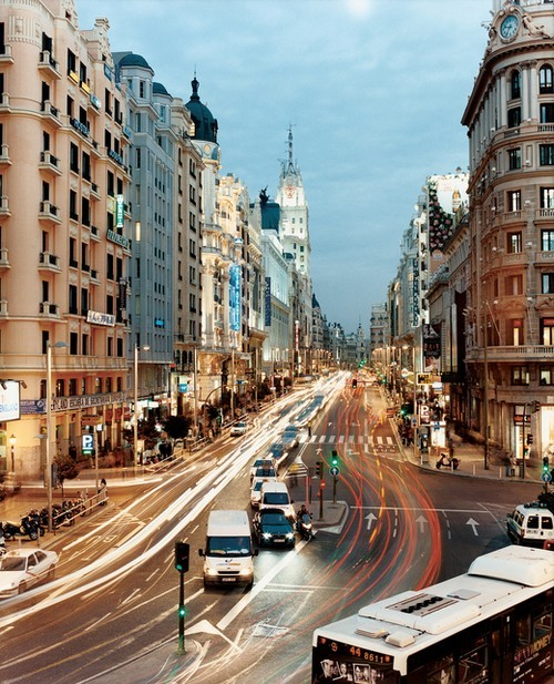 ysvoice:  | ♕ |  Boulevard in Madrid  | posted by justbesplendid | via northia