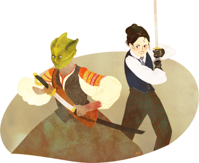 doctorwho:  Madame Vastra & Jenny Appreciation Day ancientforever:  OrangePopFox