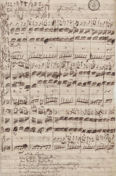 "entregulistanybostan:  rhea137  Bach's manuscript for the aria ""Wie zittern und wanken"" from the cantata BWV 105."