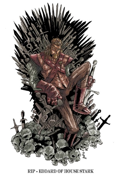 Ned on the Iron Throne by http://cjbpro.blogspot.com/