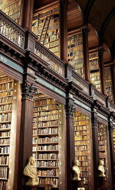 The Long Room in the Trinity Library—Dublin, Ireland (via Favorite Places and Spaces / Hither and Thither)