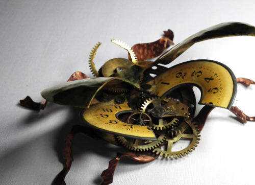 This is cool! :D Steampunk Beetle!!