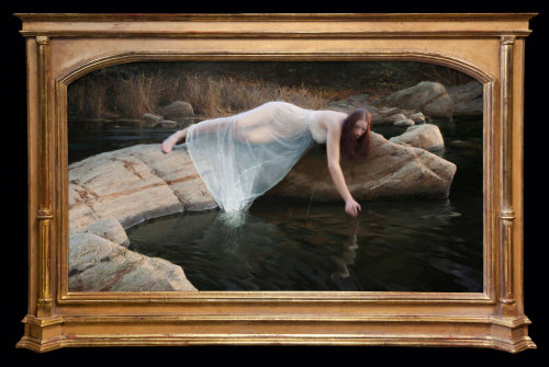 "Jeremy Lipking, ""Enchanting Depths,"" Oil on Linen, 40"" x 70"""