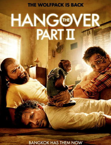 The Hangover 2   Phil, Stu, Alan and Doug travel to exotic Thailand for the wedding of Stu. After anunforgettable bachelor party in Las Vegas, Stu does not want to take risks and decides to make a safe and depressing lunch the day before the wedding. However, things do not always go as planned. What happens in Vegas may stay in Vegas, but what happens in Bangkok is unimaginable.Cast: Bradley Cooper, Ed Helms, Zach Galifianakis, Justin BarthaDirector: Todd PhillipsGenre: ComedyLength: 102 min.Distributor: Warner Bros.Rating: 16 Years   Se beber não case 2   Phil, Stu, Alan e Doug viajam à exótica Tailândia para o casamento de Stu. Após uma inesquecível despedida de solteiro em Las Vegas, Stu não quer correr riscos e decide fazer um almoço seguro e deprimente na véspera do casamento. No entanto, as coisas nem sempre seguem conforme o planejado. O que acontece em Vegas pode ficar em Vegas, mas o que acontece em Bangcok é inimaginável.   Elenco: Bradley Cooper, Ed Helms, Zach Galifianakis, Justin BarthaDireção: Todd PhillipsGênero: ComédiaDuração: 102 min.Distribuidora: Warner BrosClassificação: 16 Anos