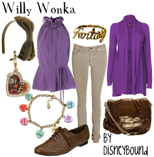 come with me and you'll be in a world of pure imagination… disneybound:  twisting the rules :)