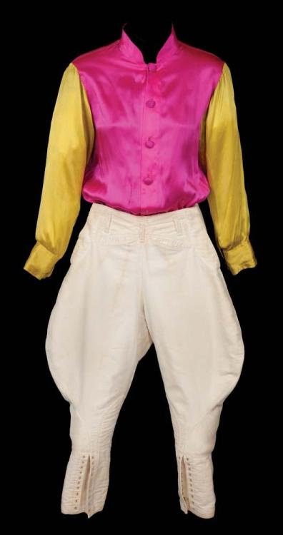 National Velvet (1944)Gold and pink jockey outfit worn by Elizabeth Taylor as Velvet Brown