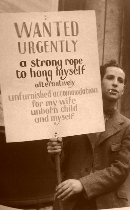 THE GREAT DEPRESSION REVISITED august-o:  Photograph of an unknown man during the Depression c.1932