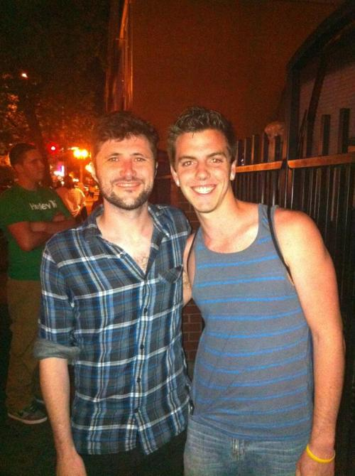 Jon Nolan and I. :) I'd met him before at a Straylight Run show, but didn't have a picture or anything signed by him. He's such a rad guy and so so nice.