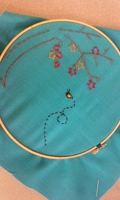 I actually like embroidery. First time.