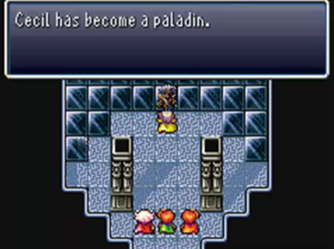 [Picture: A screenshot of FF4 from when Cecil becomes a Paladin.]