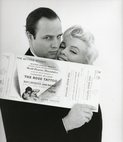 Marlon Brando and Marilyn Monroe
