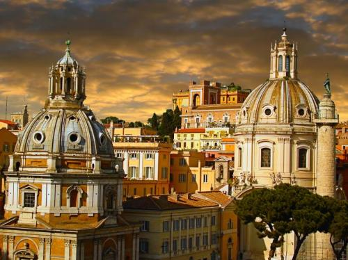 Rome, Italy (via Rome, sky architecture church rome , italy, italy uploaded by artemis)