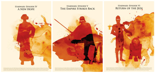 Star Wars Prints - by Poster Inspired A New Hope, Empire Strikes Back and Return of the Jedi available at Etsy.  via: tiefighters