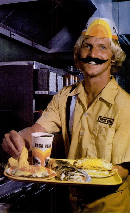 You got your mustache in my taco! You got your taco in my mustache!