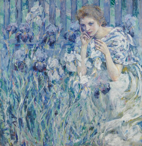 (via THE BLUE LANTERN: How You See It)  Robert Reid - Iris, c. 1895-1900, Metropolitan Museum of Art, NYC.