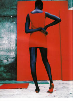 Alek Wek by Jean-Baptiste Mondino for Vogue.