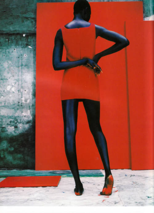 Alek Wek by Jean-Baptiste Mondino for Vogue