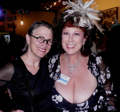 Dr. Carol Queen and Annie Sprinkle at opening night of : The EcoSex Manifesto Exhibit and EcoSex Symposium II,  presented by Femina Potens Gallery in collaboration with the Center for Sex and Culture. Photo by Library Vixen