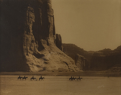 Canon de Chelly - Navaho (1904) by Edward Sheriff Curtis (via Museum of Photographic Arts Collections)