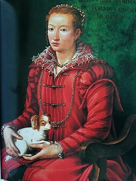 Woman with Dog, associated with the artist or the workshop of Alessandro Allori, 1560-70. via It's About Time. Based on Snufkin's frequent appearances in Allori's portraits, she must have been a popular puppy in Florentine society in the second half of the 16th century. Or maybe Allori just absolutely adored her, and stuffed her into the frame of every painting he could and told his sitters it was just the thing. This girl looks like she might be allergic.
