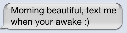 you just woke her up from her awesome dreams with that text fool