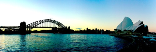 sydney. so iconic but still a surprise when you see it with your own eyes.