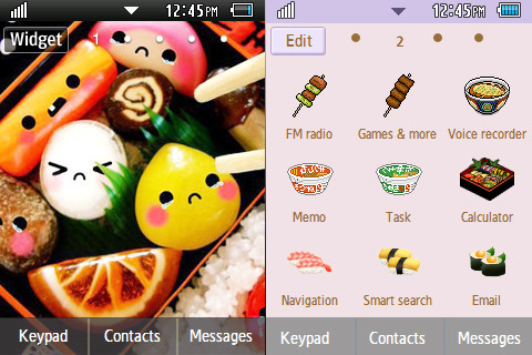 Japanese Food/Bento theme  DOWNLOAD: http://www.mediafire.com/?fobcm86ahk6n6y7 PASSWORD: yaptus