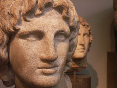 Alexander the Great by Mamluke on Flickr.marble portrait from Alexandria, Egypt 2nd to 1st century BCE and Hephaistion lurking in the background