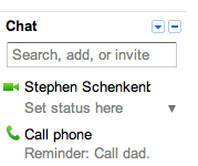 Gmail - Shows some good advice next to the phone option on fathers day. /via Schenkenberg