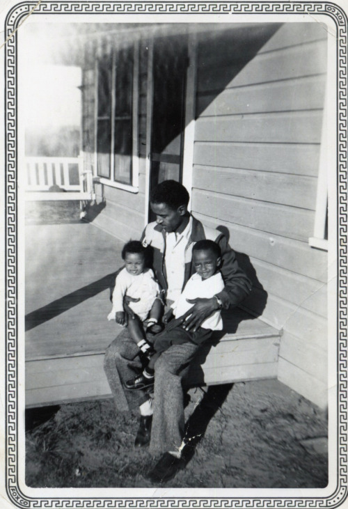 Claude, Penny & Daddy January, 1956 [Black Father Series] ©WaheedPhotoArchive, 2011