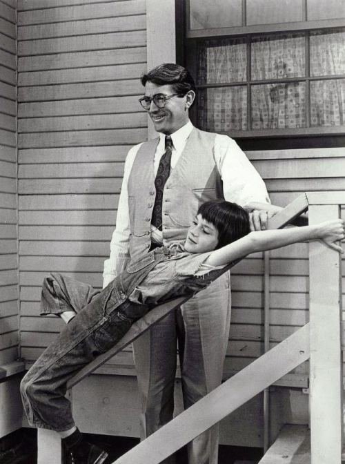 "Gregory Peck & Mary Badham in To Kill a Mockingbird (1962, dir. Robert Mulligan) ""I put everything I had into it – all my feelings and everything I'd learned in 46 years of living, about family life and fathers and children. And my feelings about racial justice and inequality and opportunity."" -Peck (1989) (via)"