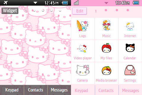 Hello Kitty Theme~ yet another pink theme for girls  DOWNLOAD: http://www.mediafire.com/?ju7rtzy1vcma1mj PASSWORD: yaptus