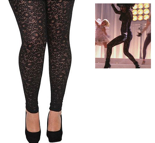 Torrid Black Metallic Lace Leggings - $19.98