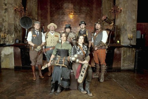 latimes:  Steampunk culture goes full speed ahead. Fans of the Victorian-influenced movement have an eye for antiquarian style and do-it-yourself ingenuity. Photo: Members of The League of S.T.E.A.M. (Supernatural and Troublesome Ectoplasmic Apparition Management). Credit: Allen J. Schaben / Los Angeles Times