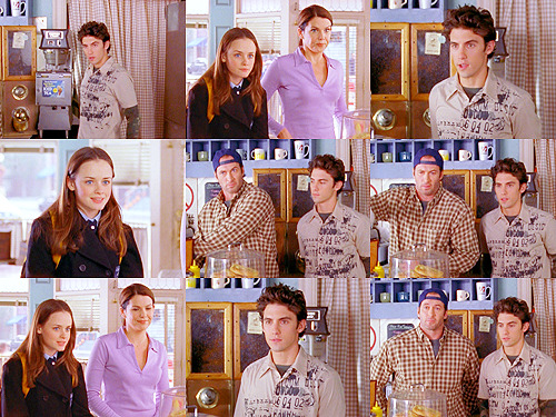 petrawr:  Jess: Hi.Rory: Hey.Jess: Hi.Lorelai: Hi…Jess: Hi.Luke: Hi.Rory: I have to get to school.Jess: Yeah, me too.Rory: Bye!Jess: Bye. Bye.Lorelai: Bye?Rory: Bye.Lorelai: Bye!Rory: Bye.Luke: Bye. Episode One — Rory and Jess: The Early Years