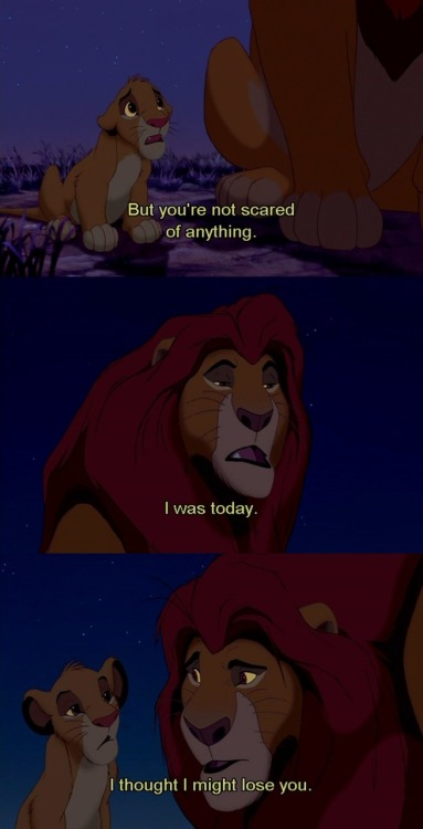 ugh, Mufasa. such a great dad.