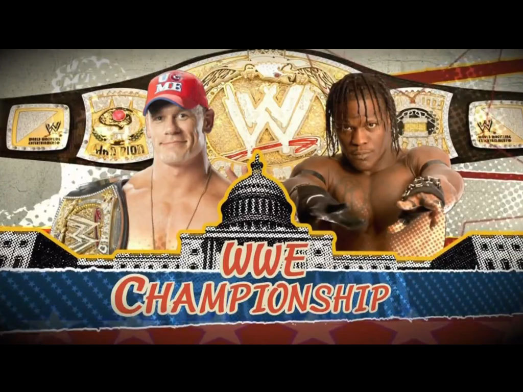 WWE Capitol Punishment 2011 John Cena vs. R-Truth for the WWE Championship at WWE Capitol Punishment http://bit.ly/mGrXLW