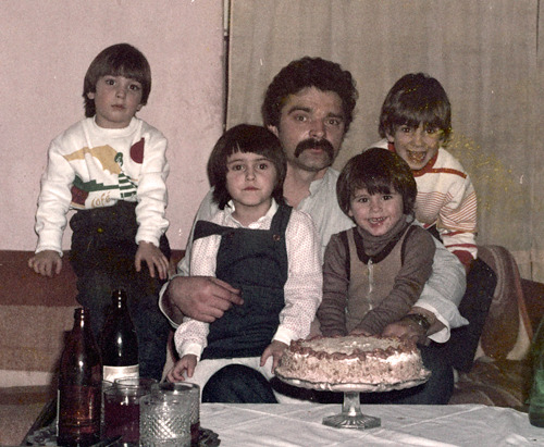 Zelimir Mrgan, my dad, at the age I am now. That's me on the far left and my brother Daniel on the far right. Thanks, dad.