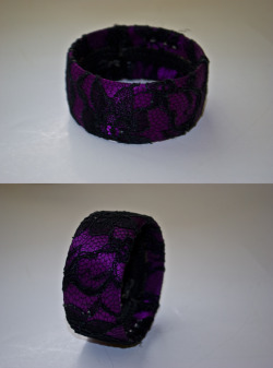 Purple and Black Lace Cuff$3