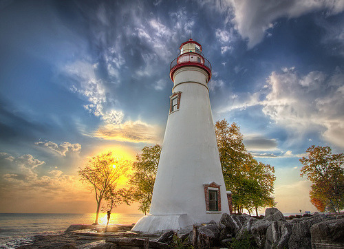 Marblehead Lighthouse on Lake Erie, Lakeside, Ohio (by Theaterwiz)
