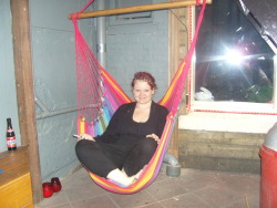This will be me again in 23 days! :D This was 11am, i found that hammock chair in my hostel, i was still in my pjs and i was high as a kite. I'm booking it tomorrow! I'm real happy right now! I best not come down for a while!  At least another week please :)
