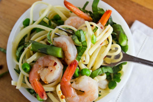 lovelylovelyfood:  Shrimp Linguine Pasta
