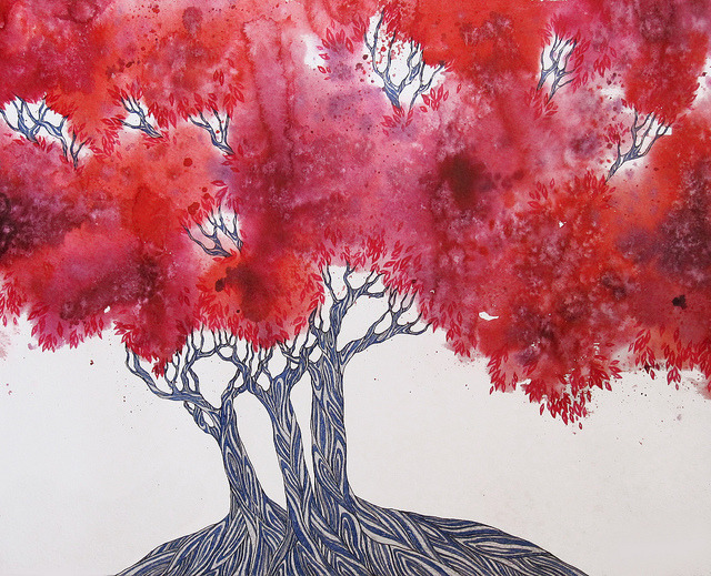 red trees by KRISTINA PASHUKEVICH on Flickr.
