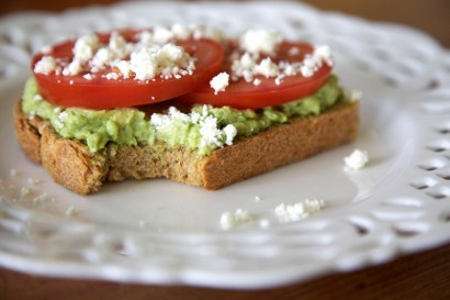Avocado is gold. (via Avocado & Tomato Tartine | Tasty Kitchen: A Happy Recipe Community!)