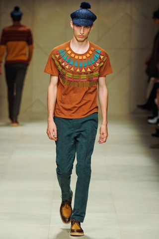 Burberry Prorsum Men Spring Summer 2012 Tribal