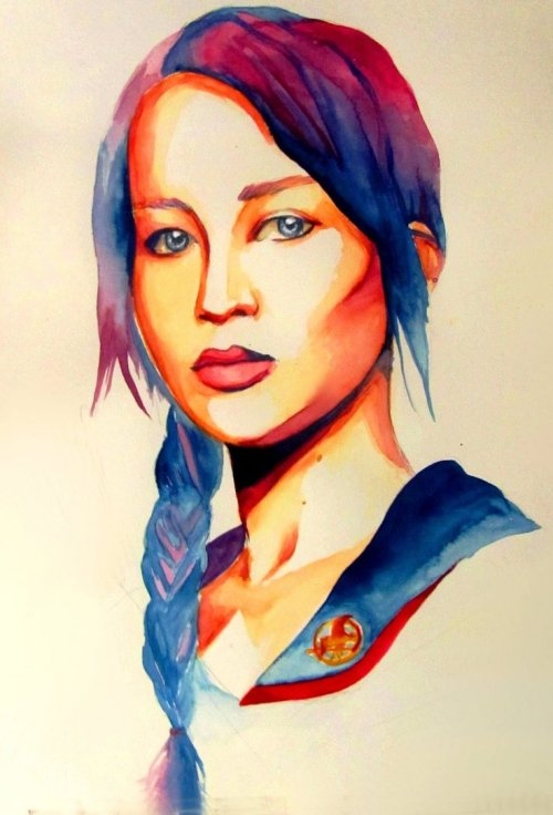 fuckyeahdistrict12:  Katniss by ~Black-Cherry007 on deviantART