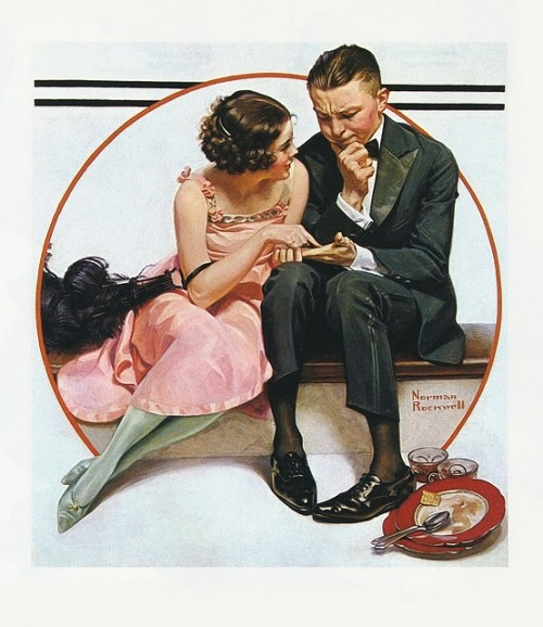 cystallineambermoments:  Fortune Teller painted by Norman Rockwell, 1921 The lines of our hands, and of our lives, are not predetermined and final, but can change as we do. We are, in fact, already creating what we will become.  — Melissa Coleman, This Life is in Your Hands
