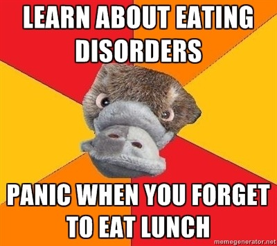 Abnormal psych made me really conscious of my eating habits.
